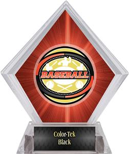 Classic Baseball Red Diamond Ice Trophy