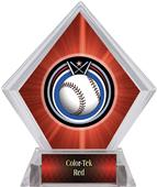 Eclipse Baseball Red Diamond Ice Trophy