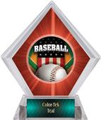 Patriot Baseball Red Diamond Ice Trophy Plate