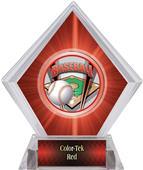 ProSport Baseball Red Diamond Ice Trophy Plate