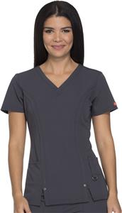 Dickies Women's Junior Fit V-Neck Top