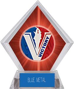 Spirit Victory Baseball Red Diamond Ice Trophy