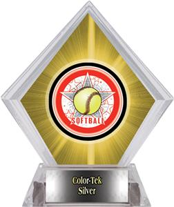 All-Star Softball Yellow Diamond Ice Trophy