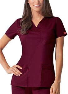 Dickies Women's Junior Fit Youtility V-Neck Top