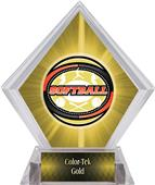 Classic Softball Yellow Diamond Ice Trophy