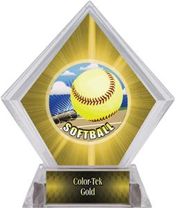 HD Softball Yellow Diamond Ice Trophy
