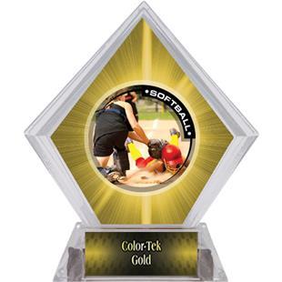 P.R.2 Softball Yellow Diamond Ice Trophy