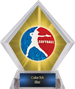 Spirit Softball Yellow Diamond Ice Trophy