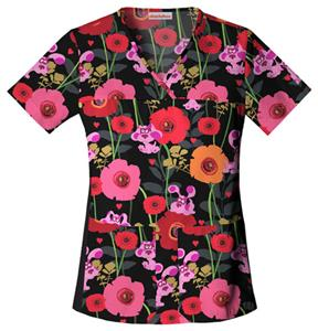 Cherokee Tooniforms Womens V-Neck Scrub Top