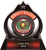 "Hasty Awards Eclipse 6"" Shield Softball Trophy"