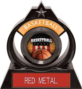 """Hasty Awards Eclipse 6"""" Patriot Basketball Trophy"""