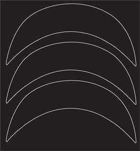 Xenith X1 Batting Helmet Brim Decals (3) -Closeout