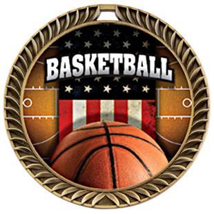 Awards Crest Basketball Medal Patriot M-8650B