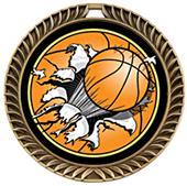 Awards Crest Basketball Medal Bust-Out M-8650B
