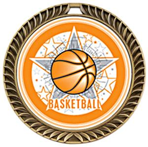 Awards Crest Basketball Medal All-Star M-8650B