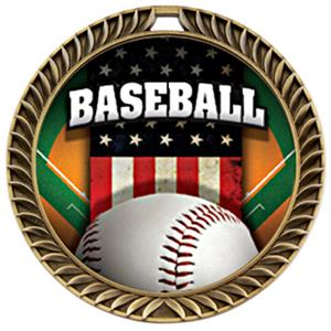 Hasty Awards Crest Baseball Medal Patriot M-8650C