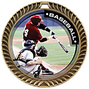 Hasty Awards Crest Baseball Medal P.R.1 M-8650C