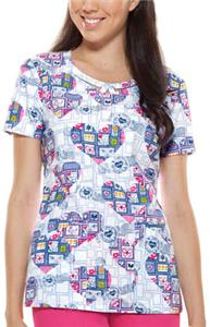 Dickies Women's Round Neck Care Package Scrub Top
