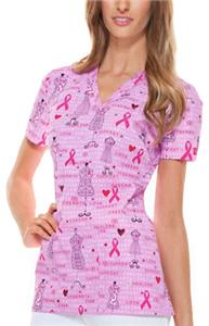 Dickies Women's Print V-Neck Scrub Top