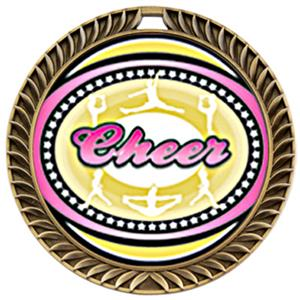 Hasty Awards Crest Cheer Medal Classic M-8650CH