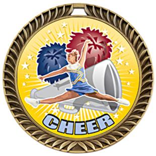 Hasty Awards Crest Cheer Medal HD M-8650CH