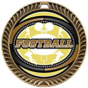 Hasty Awards Crest Football Medal Classic M-8650F