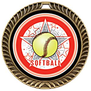 Hasty Awards Crest Softball Medal All-Star M-8650O