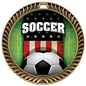 Hasty Awards Crest Soccer Medal Patriot M-8650S