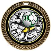 Hasty Award Crest Soccer Medal Bust-Out M-8650S