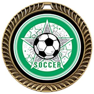 Hasty Award Crest Soccer Medal All-Star M-8650S