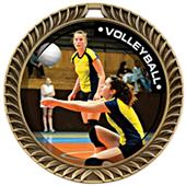 Hasty Awards Crest Volleyball Medal P.R.1 M-8650V