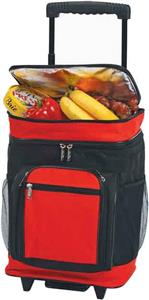 Picnic Plus Black/Red Partytime Rolling Cooler