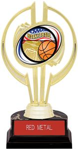 "Gold Hurricane 7"" Americana Basketball Trophy"