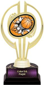 "Gold Hurricane 7"" Bust-Out Basketball Trophy"