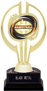 "Gold Hurricane 7"" Classic Basketball Trophy"