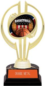 "Gold Hurricane 7"" Patriot Basketball Trophy"