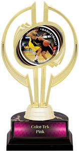 "Gold Hurricane 7"" P.R. Female Basketball Trophy"