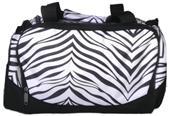 Pizzazz Small Zebra Print Cheer Travel Bag