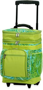 Picnic Plus Green Paisley Partytime Rolling Cooler