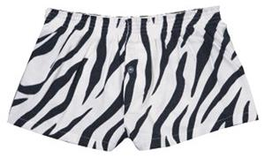 Boxercraft Womens Zebra Flannel Bitty Boxer Shorts