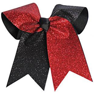 Pizzazz Glitter Twister Hair Bow