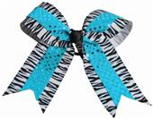 Pizzazz Zebra Sequin Hair Bow