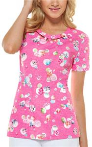 Dickies Womens Junior Fit Round Neck Scrub Top