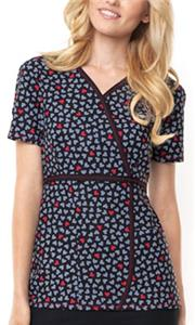 Dickies Womens Jr. Fit Mock Wrap Scrub Top