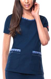Dickies Womens Zig-Zag Stitching Scrub Tops