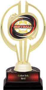 "Awards Gold Hurricane 7"" Classic Softball Trophy"