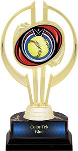 "Awards Gold Hurricane 7"" Eclipse Softball Trophy"
