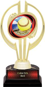 "Hasty Awards Gold Hurricane 7"" HD Softball Trophy"