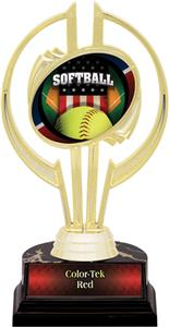 "Awards Gold Hurricane 7"" Patriot Softball Trophy"