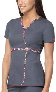 Dickies Womens Jr. Fit Mock Wrap Neck Scrub Top
